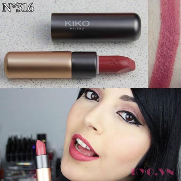 Son KiKo Velvet Passion Matte Lipstick 316