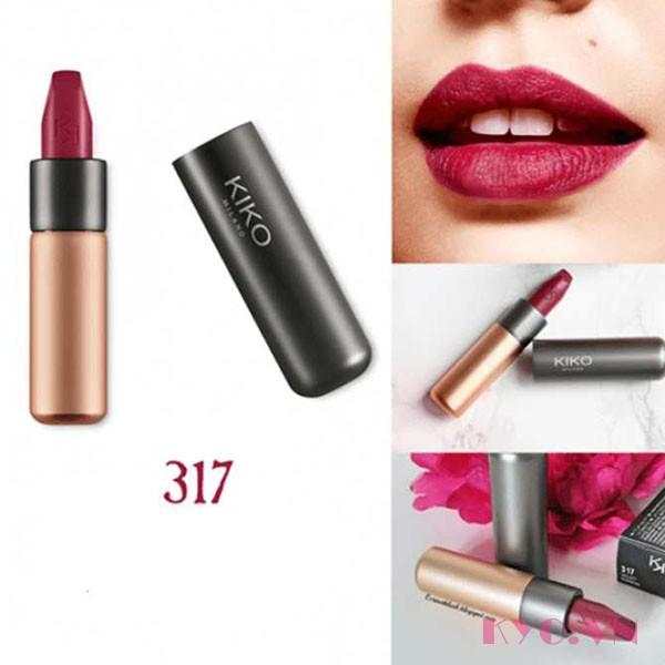 Son KiKo Velvet Passion Matte Lipstick 317