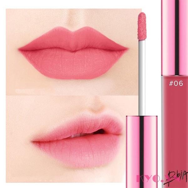 Hồng San Hô  Son BBIA Last Velvet Lip Tint màu hồng san hô 06 Blossom Attach
